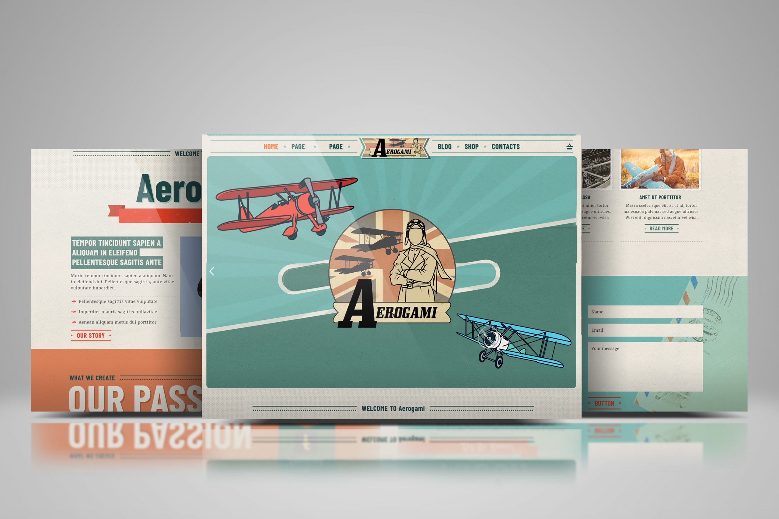 Aerogami – Website build and branding